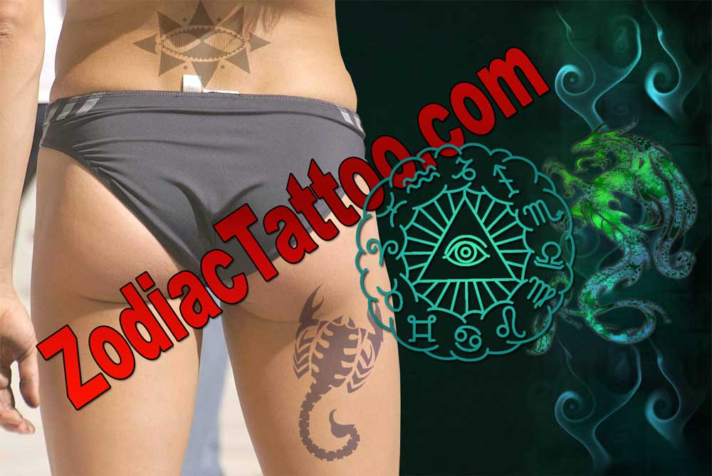 Leo and Cancer Zodiac Tattoos